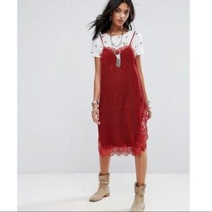 Free People White Floral Roses Dress